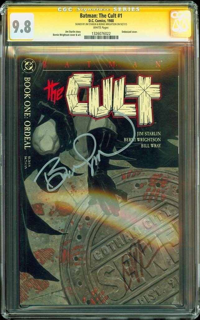 Batman The Cult #1 CGC SS 9.8 Signed x2 Jim starlin & Bernie Wrightson NM+/MT