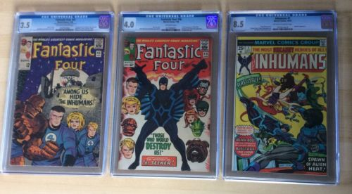 Fantastic Four 45 (3.5), Fantastic Four 46 (4.0), & Inhumans 1 (8.5) CGC Lot