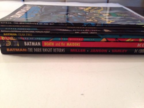 Batman 8 Tpb Lot Set Run Dark Knight Returns Death And The Maidens Year Two