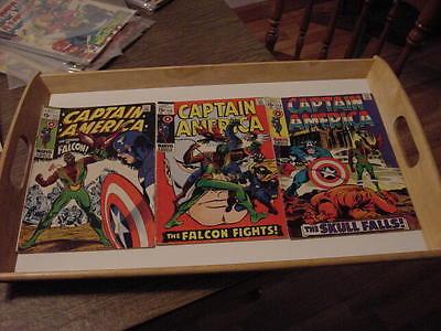 SILVER AGE CAPTAIN AMERICA COMIC BOOK LOT- FIRST FALCON #117, 118 & 119