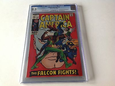 CAPTAIN AMERICA 118 CGC 8.5 2ND APPEARANCE FALCON RED SKULL 1969 FREE SHIPPING