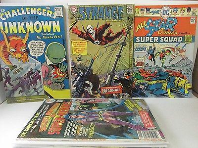 DC KEY ISSUE COMIC LOT OF 10 - Strange Adventures 205, All Star Comics 58