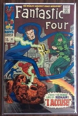 Fantastic Four #65 (1967) - First App. of Ronan the Accuser - Fine 7.0