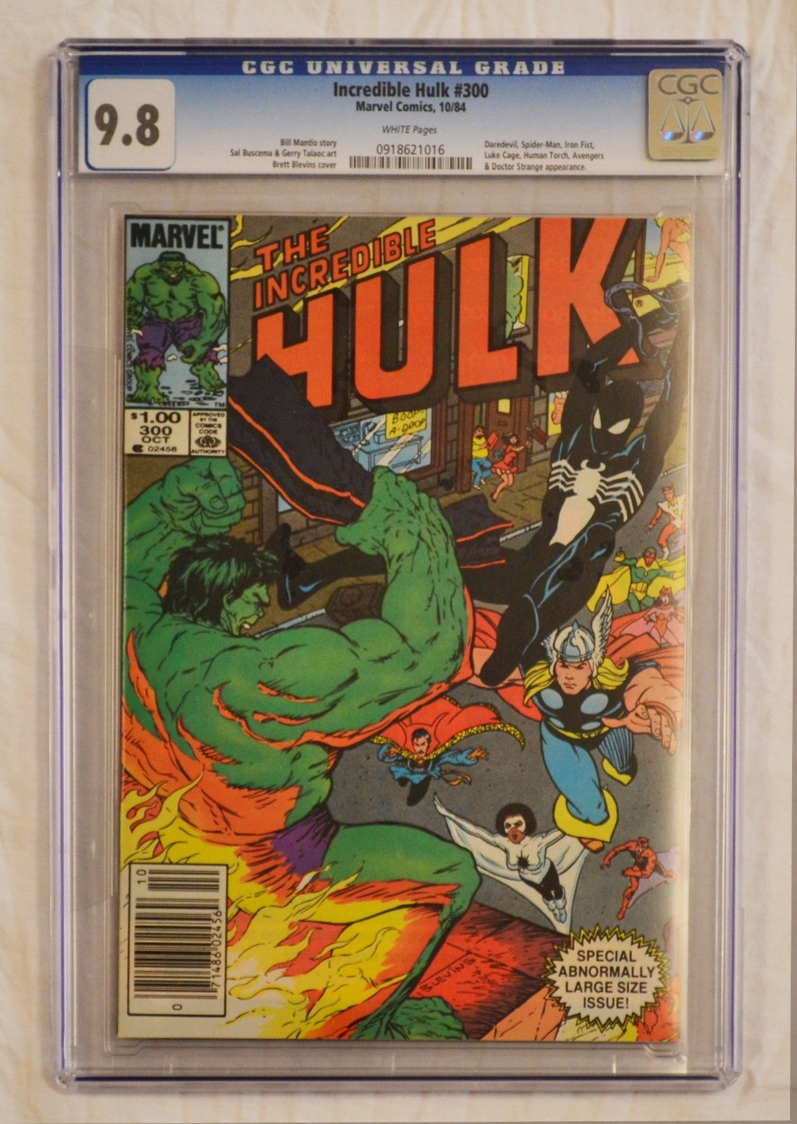 Incredible Hulk #300 CGC 9.8 WP Spider-Man Avengers Daredevil Iron Fist Cage App