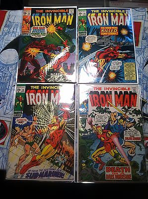 The Invincible Iron Man  #22 #23 #25 #26Marvel comics Death of Janice