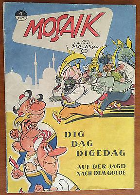 Mosaik Hannes Hegen Nr.1 Original 1955  - Zustand 0-1 sehr gut erhalten