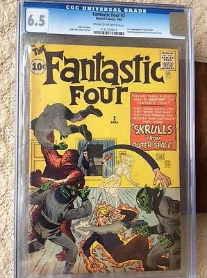 Marvel Fantastic Four 2 CGC 6.5 C-OW 2nd app of the Fantastic Four