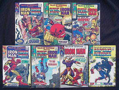 TALES OF SUSPENSE LOT 90 91 94 95 96 97 98 (Marvel 1967) 1st Whiplash - 8.0 VF