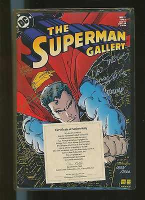Superman Gallery  No  1 ltd + signed + Certificate  US DC  Comics