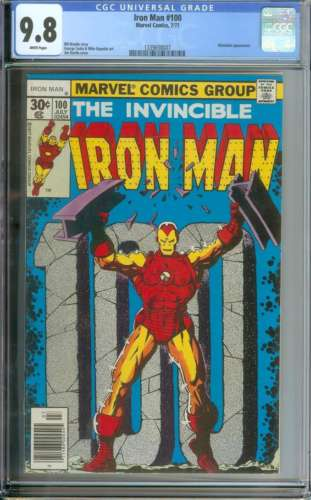 IRON MAN #100 CGC 9.8 WHITE PAGES