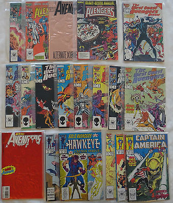Avengers, Solo Avengers, West Coast Avengers, and Captain America Comic Lot