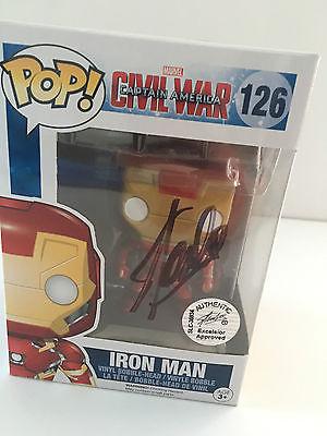 Funko Pop IRON MAN, Civil War #126 Signed by STAN LEE