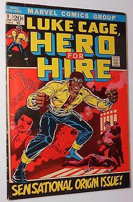 LUKE CAGE, HERO FOR HIRE 1 (Marvel June 1972) 1st Issue comic / Power Man Origin
