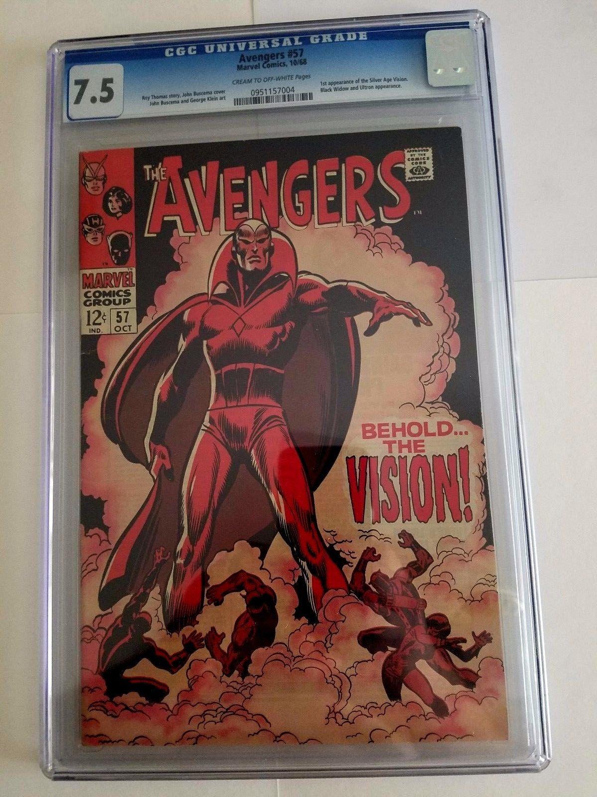 Marvel Comics Avengers #57 CGC graded 7.5
