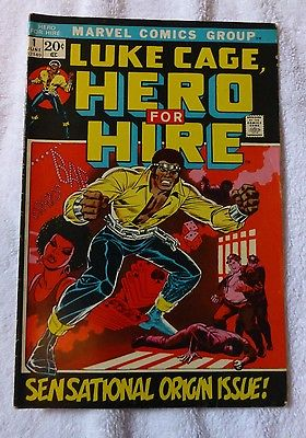 Luke Cage Hero for Hire #1 - Marvel Bronze Age Comics - First Origin Issue 1972