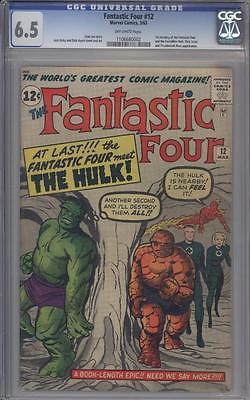 FANTASTIC FOUR 12 - CGC 6.5 - 1st Hulk / Fantastic Four Meeting - Marvel Comics