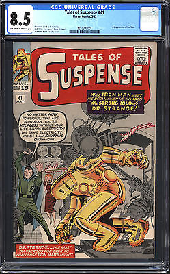 Tales of Suspense #41 CGC 8.5: 3rd Iron Man Silver Age Key $1,300 Value