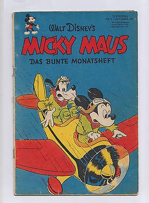 Micky Maus 1951 Nummer 1 das erste Heft kein Nachdruck  Ehapa Preis auf Titel
