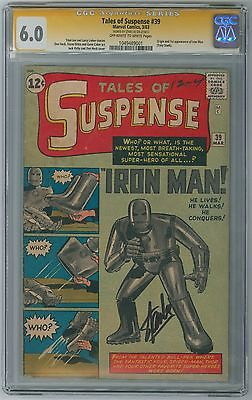 Tales of Suspense #39 CGC 6.0 - 1st Iron Man (1963) Marvel - Stan Lee Signature