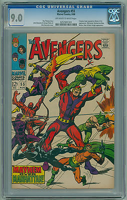 Avengers # 55 CGC 9.0 VF/NM 1st Full Appearance of ULTRON Sharp High Grade Copy