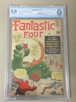Fantastic Four #1 CBCS 5.0 (Like CGC) 1st App of Fantastic Four and the Mole Men