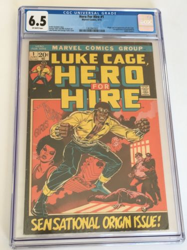 HERO FOR HIRE Issue #1 CGC 6.5 First Appearance of Luke Cage Marvel Comics