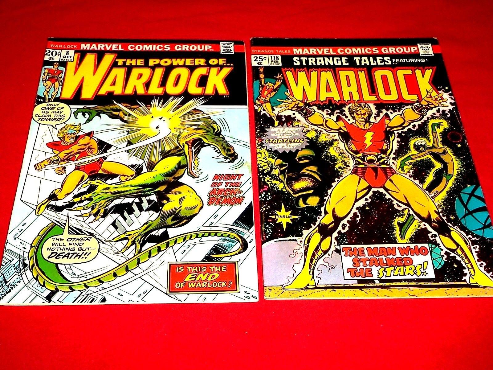 Strange Tales #178 (Feb 1975)/ The Power Of Warlock # 8 (1973)(Marvel) Very Good
