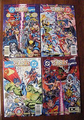 Marvel Versus DC / DC Versus Marvel #1-4 Comic Books, NM/MT, Original Owner 1996