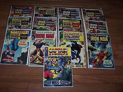 TALES OF SUSPENSE IRON MAN/CAPTAIN AMERICA Lot of 13 Issues 87-101 F- NO RESERVE