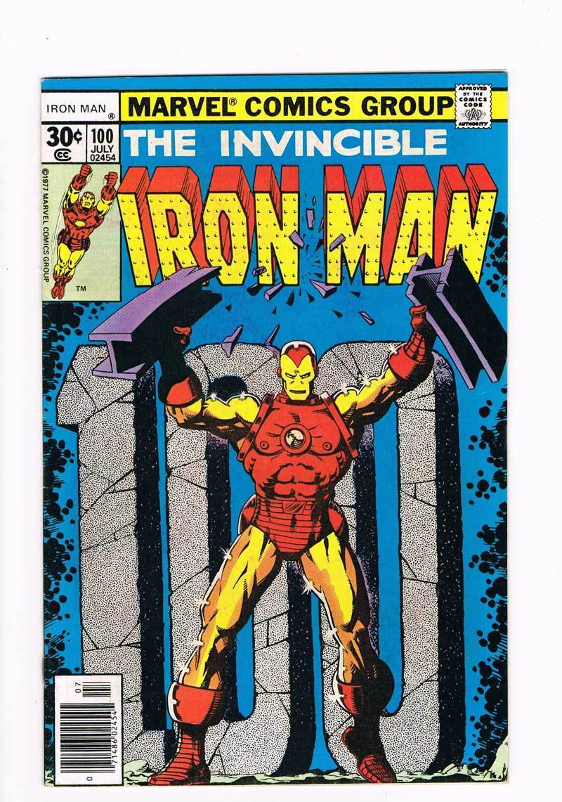 Iron Man # 100  Iron Man vs the Mandarin   grade 7.5 scarce book