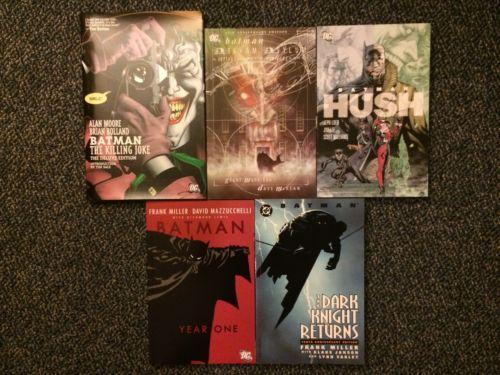 Batman TPB Lot Year One The Killing Joke Hush Dark Knight Returns Arkham Asylum