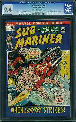 SUB-MARINER 52 CGC NM 9.4 1 COMIC XMEN AVENGERS FANTASTIC FOUR 4 SPIDERMAN