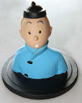 Buste Tintin - Le lotus bleu - Figurine 7cm - no Leblon Pixi