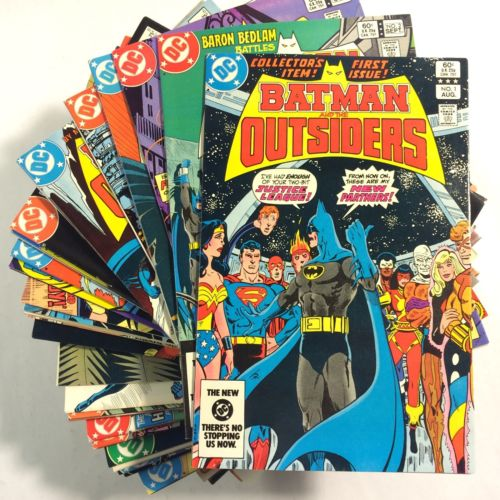 BATMAN AND THE OUTSIDERS 1-32, Adventures 33-38, Outsiders 1985 1-28, & Annuals