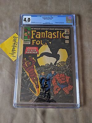 Fantastic Four 52 Vol 1 First Appearance Of The Black Panther CGC 4.0 Civil War