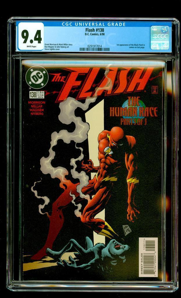 The Flash #138 (Jun. 1998) 1st Appearance Black Flash CW TV Show Hot CGC 9.4