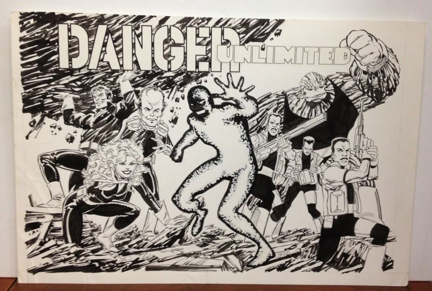 DANGER UNLIMITED Original Comic Book Trading Card Art JOHN BYRNE Fantastic Four