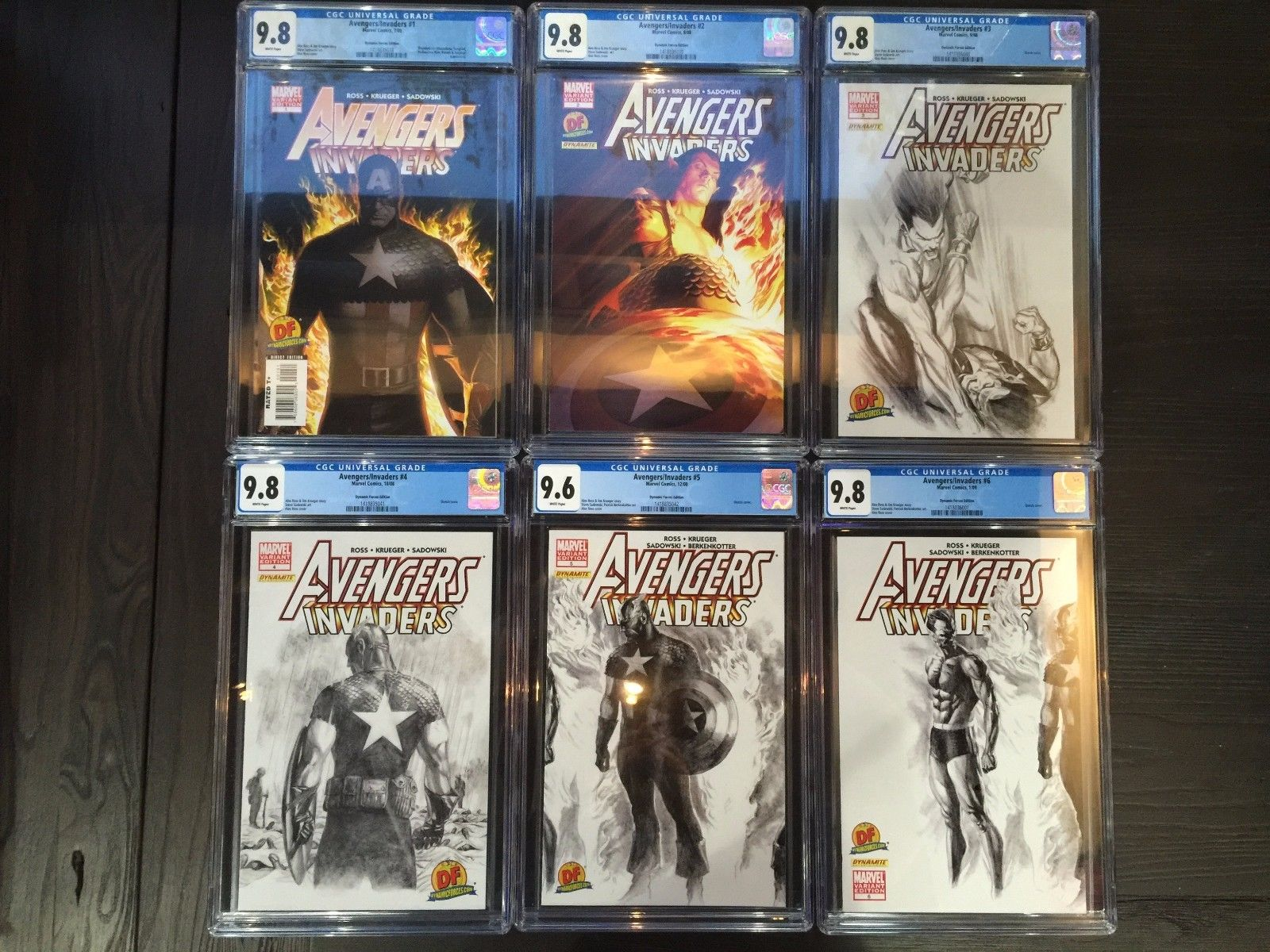 AVENGERS/INVADERS #1 2 3 4 5 6 7 8 9 10 11 12 ALEX ROSS DYNAMIC FORCES CGC SET