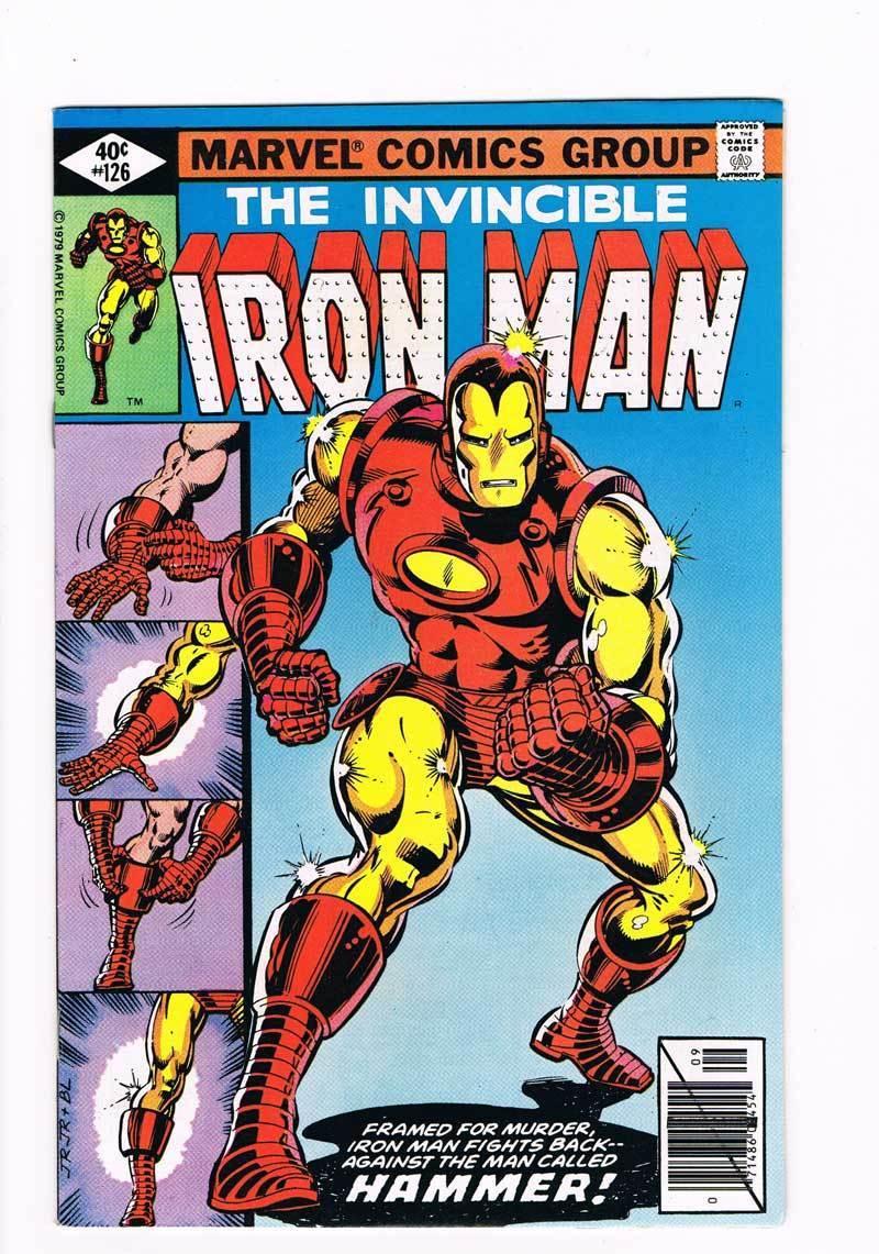 Iron Man # 126  Classic Iron Man costume change cover   grade 8.5 scarce book