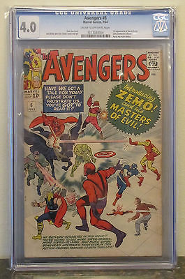 The Avengers #6 (Sep 1964, Marvel) CGC 4.0 unrestored - NO RESERVE