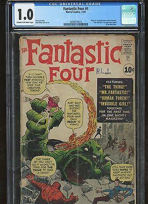 Fantastic Four 1 CGC 1.0 FR * Marvel 1961 * Origin & 1st App. Fantastic Four