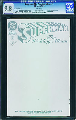 SUPERMAN THE WEDDING ALBUM #1 1996-CGC GRADED 9.8 WHITE PAGES- 0207123014