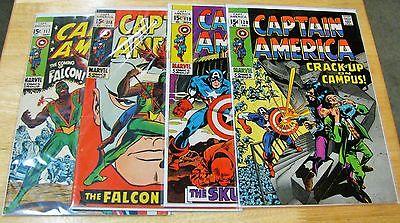 (4) CAPTAIN AMERICA COMIC BOOKS 117 SEPT, 118 OCT, 119 NOV & 120 DEC VF 8.0