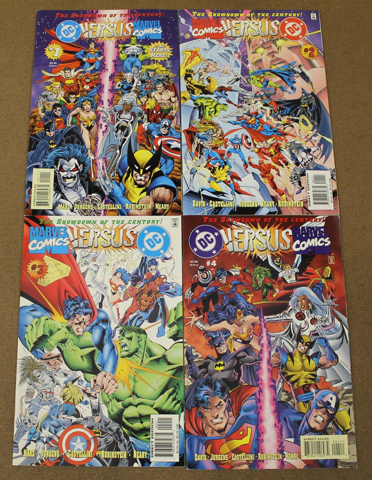DC Versus Marvel/Marvel Versus DC (1996) #1-4 Complete Set Amalgam