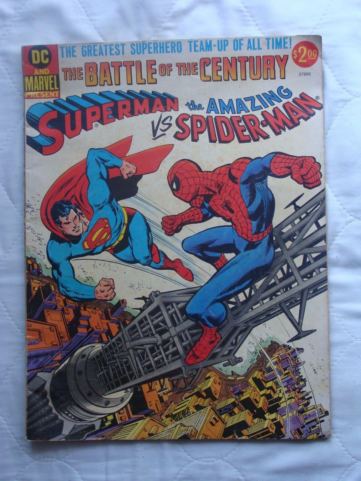 Superman vs. The Amazing Spider-Man #[nn] 1976 & 1981 Marvel Versus DC LOT of 2