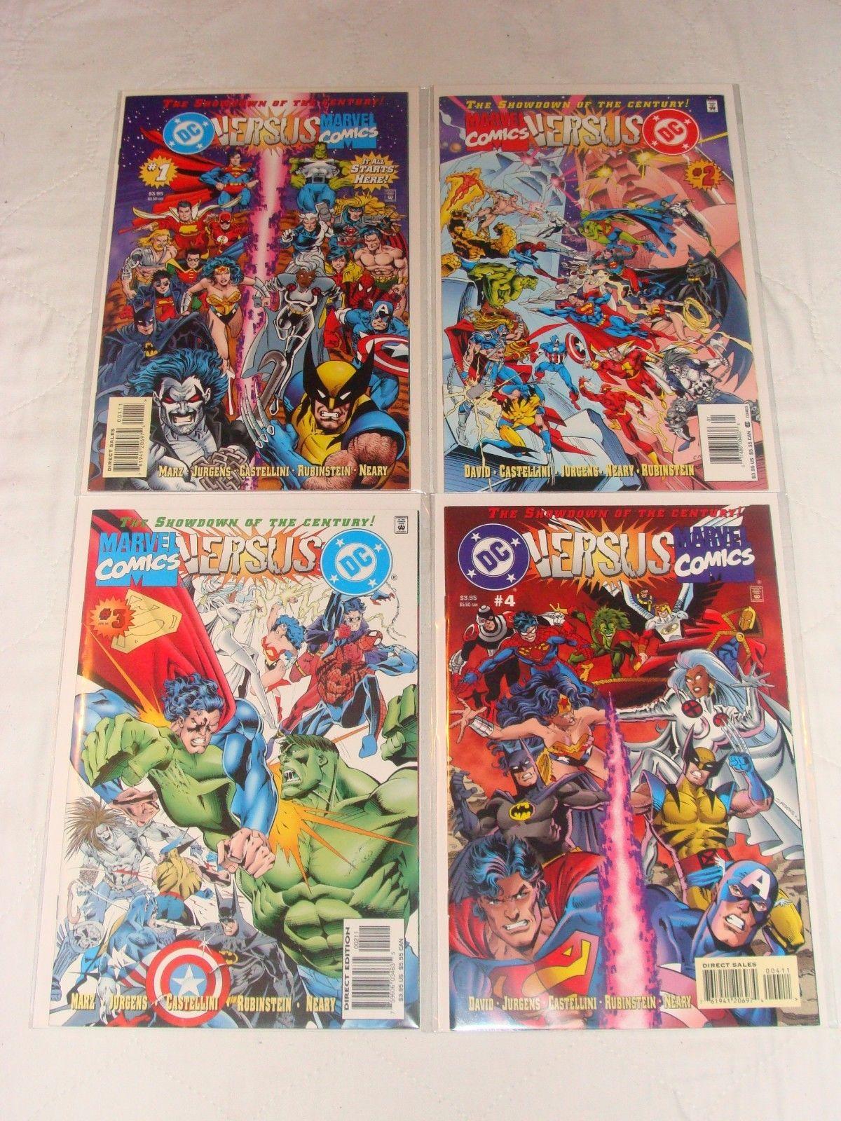 DC Versus Marvel / Marvel Versus DC #1-4 1 2 3 4 Complete Run (Feb 1996, DC)