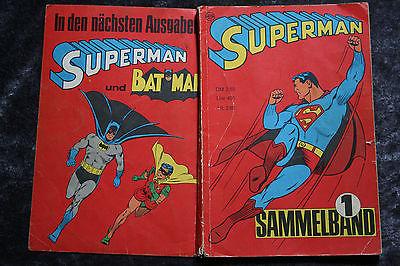 SUPERMAN Sammelband Nr. 1 ,Hefte 1-4 von 1966,Ehapa Verlag