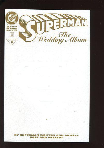SUPERMAN THE WEDDING ALBUM #1 NEAR MINT LIMITED COMMEMORATIVE EDITION 1996