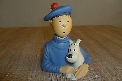 Pixi en résine buste Tintin et l'ile noire Très bon état