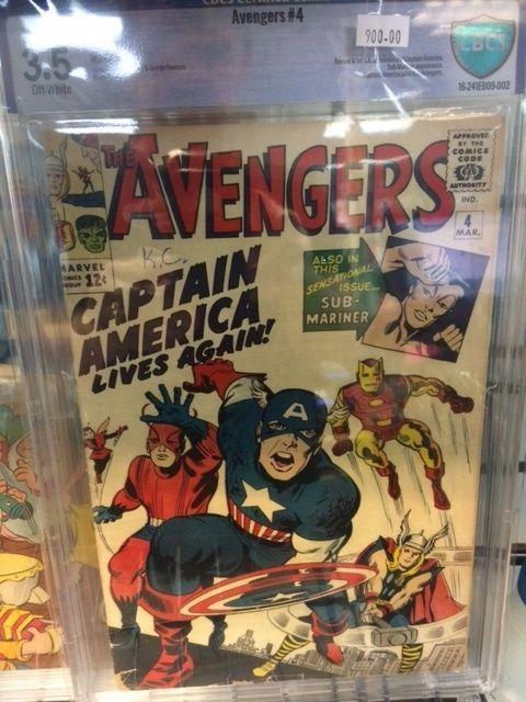 Avengers #4 (VOL 1) CBCS 3.5 1ST Silver Age CAPTAIN AMERICA CGC